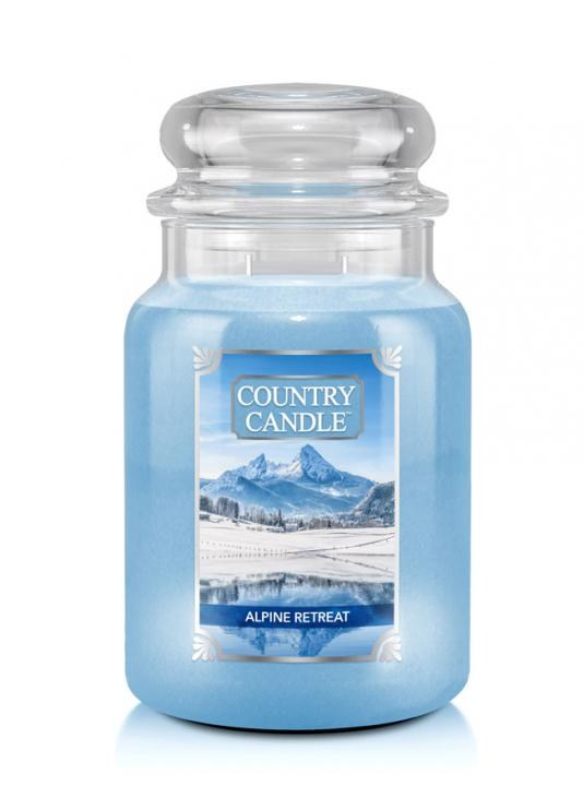 Velká svíčka Country Candle Alpine Retreat